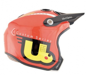 casque integral urge real jet rouge jaune