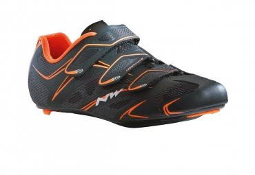 chaussures route northwave sonic 3s noir orange