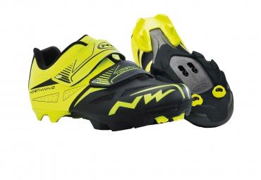 chaussures vtt northwave spike evo 2015 jaune noir