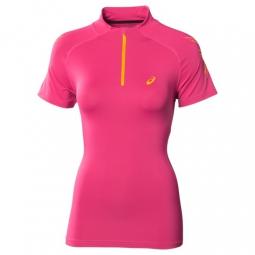 asics tee shirt speed 1 2 zip femme