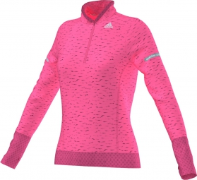 adidas t shirt femme sequencials climaheat rose