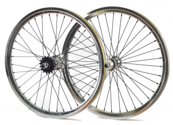 global racing paire de roues vector pro 20 argent