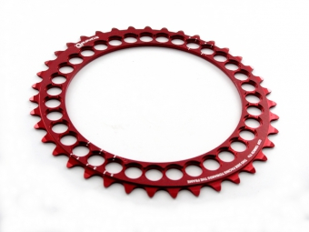 rotor plateau q rings interieur bcd 110mm 5 branches rouge