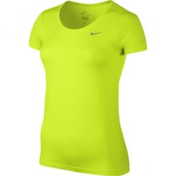 nike tee shirt femme dri fit jaune femme