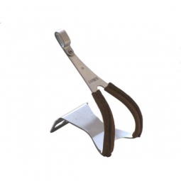 mks paire de cales pieds toe clip acier leather taille m