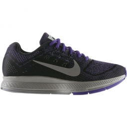 nike chaussures air zoom structure 18 flash noir violet femme