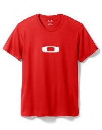 oakley t shirt square me rouge