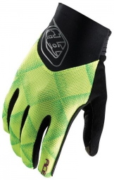 troy lee designs paire de gants longs ace noir jaune