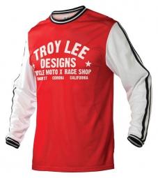 troy lee designs maillot manches longues super retro rouge