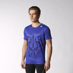 adidas t shirt adizero homme bleu