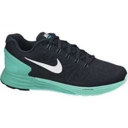 nike chaussures lunarglide 6 noir vert femme