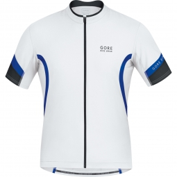 gore bike wear 2015 maillot power 2 0 blanc bleu