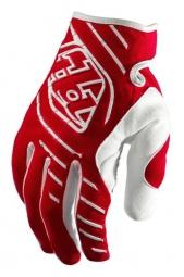 troy lee designs paire de gants longs se rouge