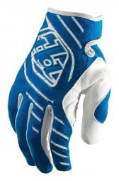 troy lee designs paire de gants longs se bleu