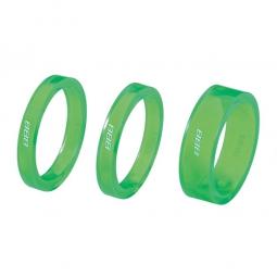 bbb kit de 3 entretoises composite vert