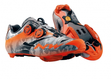 chaussures vtt northwave extreme tech mtb plus camo orange