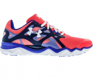 under armour micro g monza rose bleu femme