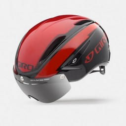 casque giro air attack shield rouge noir