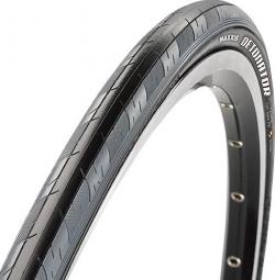 maxxis pneu route detonator 700 x 23c noir gris rigide tb86350700