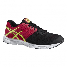 asics chaussures gel evation noir rouge homme