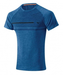 mizuno t shirt tubular bleu homme
