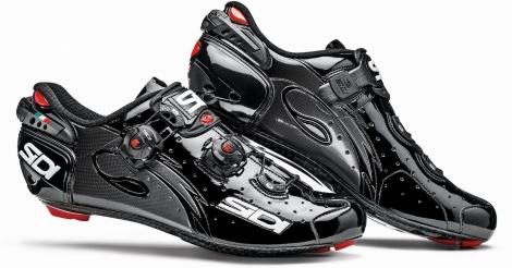 chaussures route sidi wire carbon noir verni