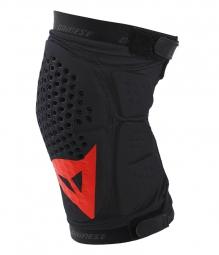 dainese paire de genouilleres trail skins noir rouge