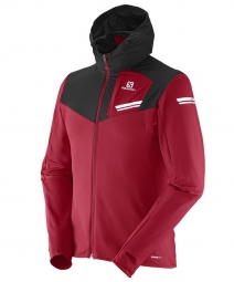 salomon veste elevate mid rouge noir homme