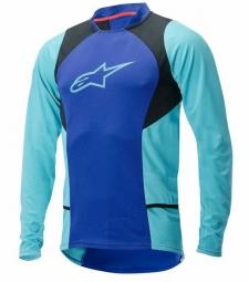 alpinestars maillot manches longues drop 2 bleu aqua