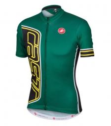 castelli 2016 maillot manches courtes formula jersey fz vert