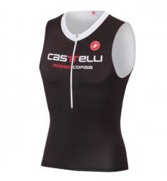 castelli 2015 maillot triathlon body paint 2 tri top noir blanc