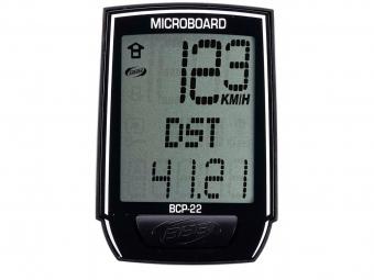 bbb compteur microboard 13 fonctions filaire noir