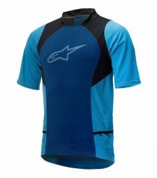 alpinestars maillot manches courtes drop 2 bleu