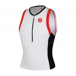 castelli 2015 maillot triathlon free tri top blanc noir rouge