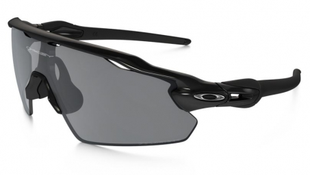oakley lunettes polarized radar ev pitch black black iridium polarized ref oo9211 07