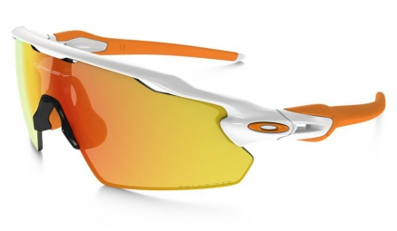 oakley lunettes polarized radar ev pitch white fire iridium polarized ref oo9211 08
