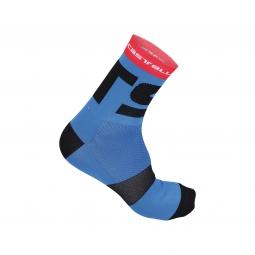 castelli paire de chaussettes free x13 bleu noir