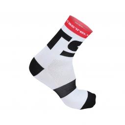 castelli paire de chaussettes free x13 blanc noir