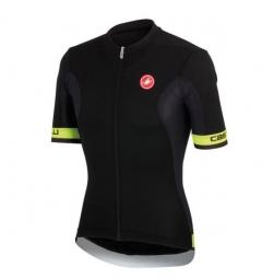 castelli 2015 maillot volata jersey fz noir jaune fluo