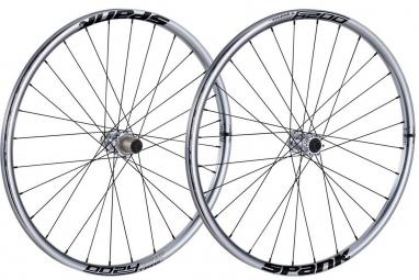 spank paire de roues 27 5 oozy trail 295 15mm 12x142mm chrome