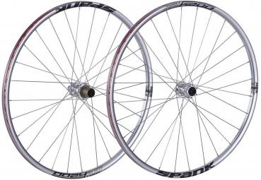spank paire de roues 26 oozy trail 260 15mm 12x142mm chrome