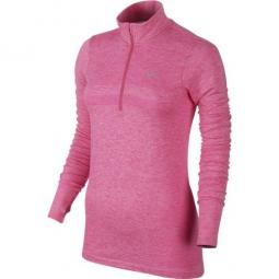 nike femme dri fit knit 1 2 zip