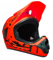 casque integral seven m1 orange fluo