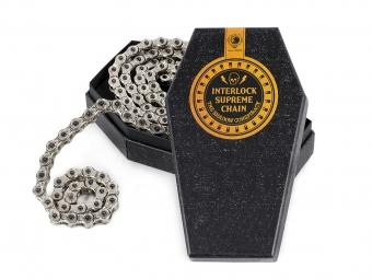 shadow chaine demi maillon 1 8 interlock supreme argent