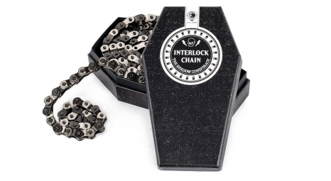shadow chaine demi maillon 1 8 interlock v2 noir argent