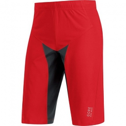 gore bike wear short alp x pro windstopper soft shell rouge noir