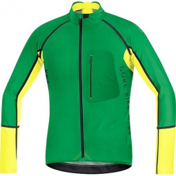 gore bike wear maillot alp x pro windstopper soft shell zip off vert jaune