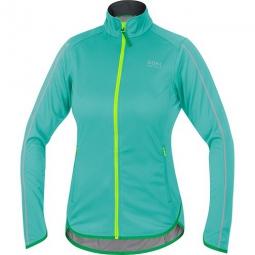 gore bike wear veste femme countdown windstopper soft shell light turquoise jaune