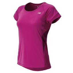 new balance t shirt poison berry femme violet