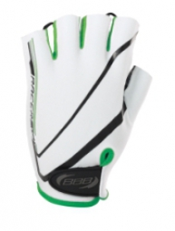 bbb paire de gants courts ete racer blanc vert